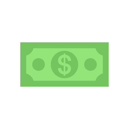 Dollar bill icon. isolated on white background  イラスト・ベクター素材
