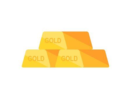 Golden bars. isolated on white background Illusztráció