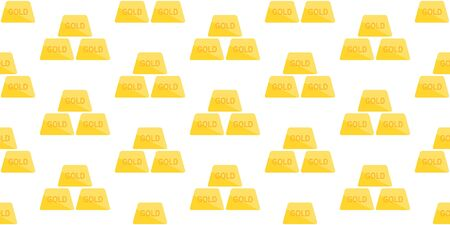 Seamless pattern with Golden bars. isolated on white background