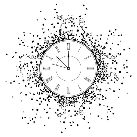 New Year Clock. isolated on white background