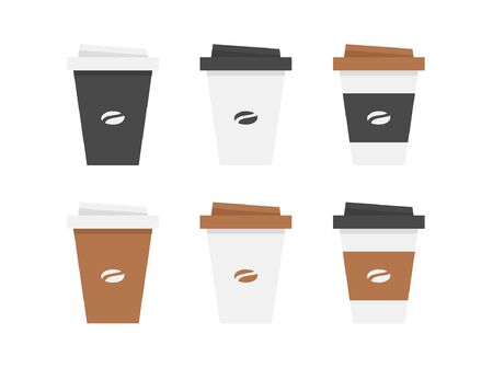 Plastic coffee cup. isolated on white background