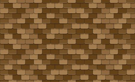 Brown roof tiles seamless pattern