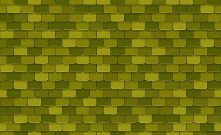 Nahtloses Muster der grünen Dachziegel