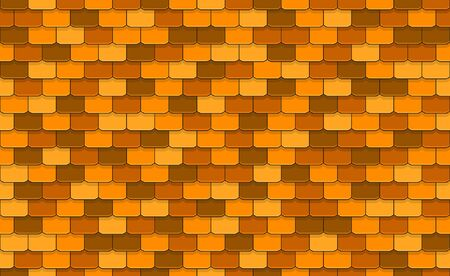 Yellow roof tiles seamless pattern Illustration