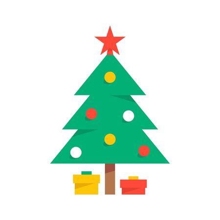 Árbol de Navidad. aislado sobre fondo blanco