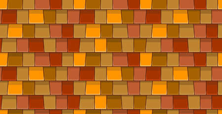 Roof tiles seamless pattern. Flat Style