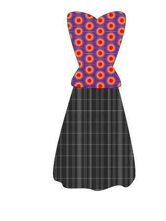 tunic: bright tunic with long skirt Illustration