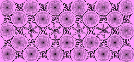 pink and black: black pattern on a pink background vector