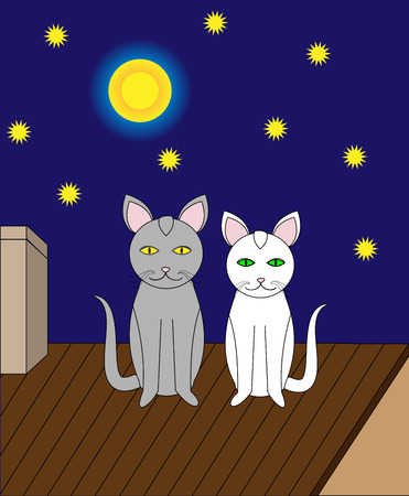 date night: romantic date in the night vector