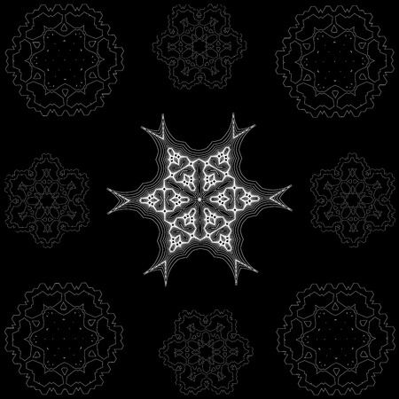 complex: Simple and complex snowflakes
