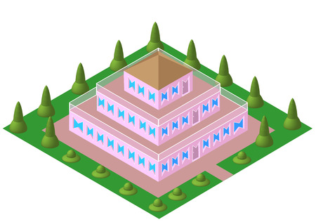 storey: three storey house pyramid vektor Illustration