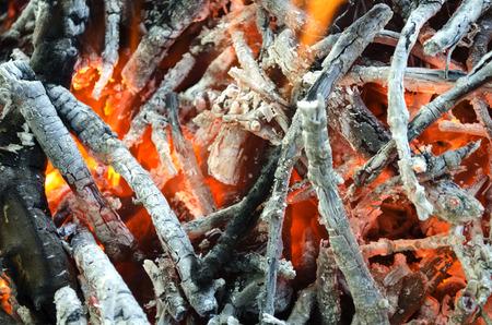 burnt wood: hot coals from the burnt wood