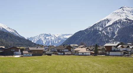 Alpine village in Austria Stok Fotoğraf