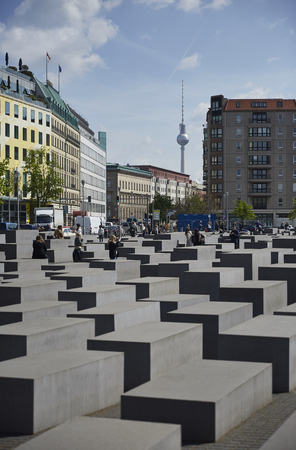 The Memorial to the Jews Murdered Europe, known as the Holocaust Memorial Memorial at Berlin, Germany