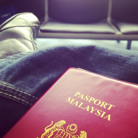 jeans: Waiting at departure hall