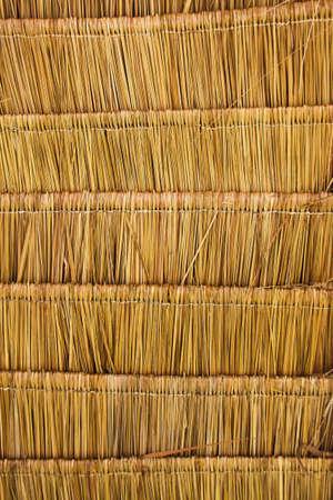 Straw roof background photo