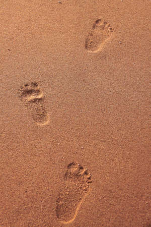 Footprint at beach is symbol of progression photo