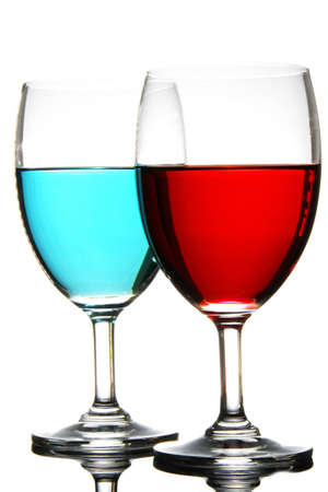 Different color, different glasses can live together. photo