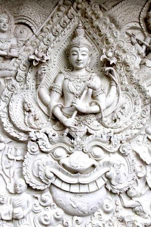 lord vishnu: Narayana , the god of Hin-Dhu . Stock Photo