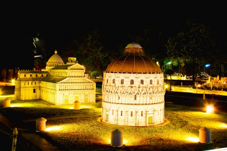 reproduced: CHONBURI, THAILAND - NOVEMBER 21  An white dome was reproduced to mini size in Mini Siam on November 21, 2011 in Chonburi, Thailand