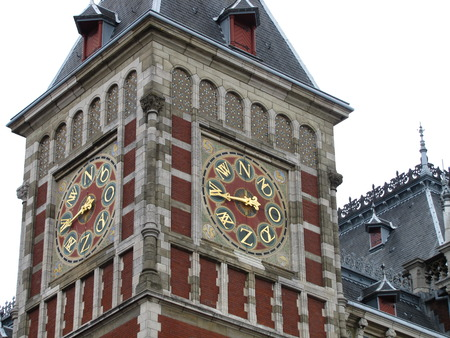 Amsterdam clock tower