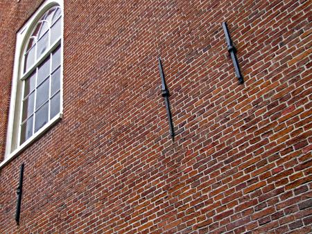 Bakstenen muur in Amsterdam