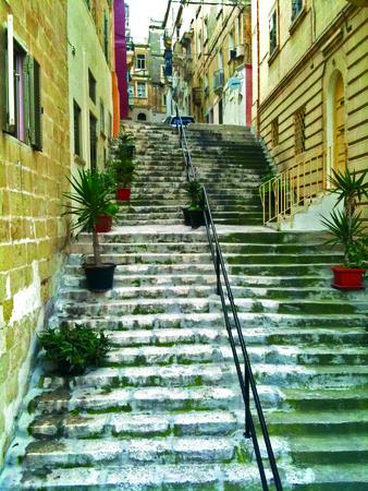 Stairs in Malta Banco de Imagens - 34371377