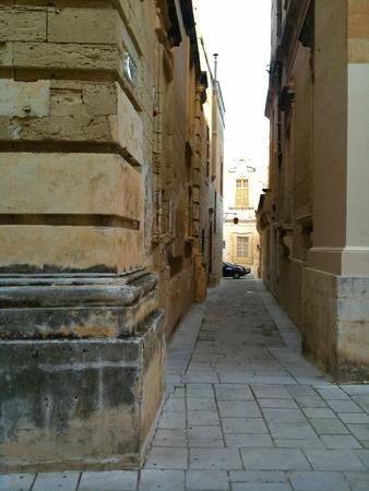 Narrow walkway in the cities of Malta
