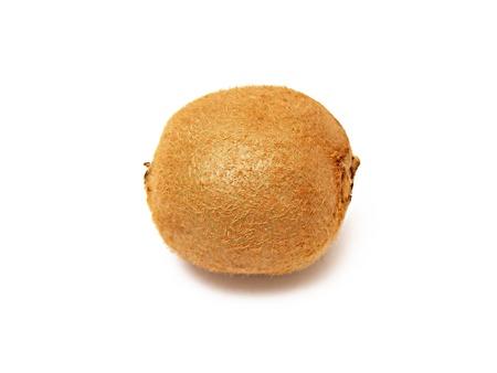 A ripe kiwi isolated on white background Stock Photo - 8481229