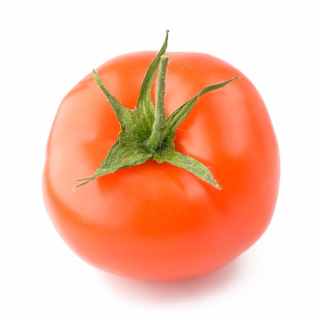 A fresh tomato isolated on white background Stock Photo - 9209838