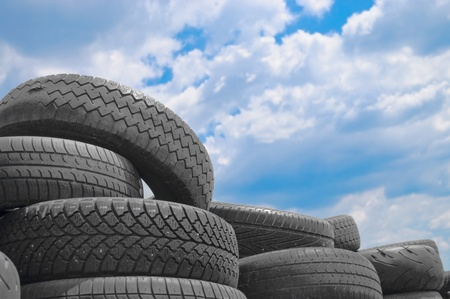 Used car tyres photo