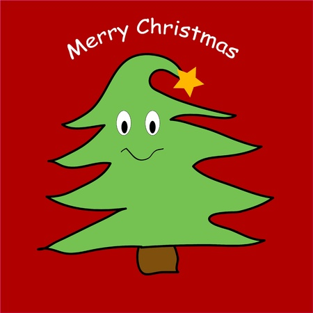 gleeful: Happy Christmas tree