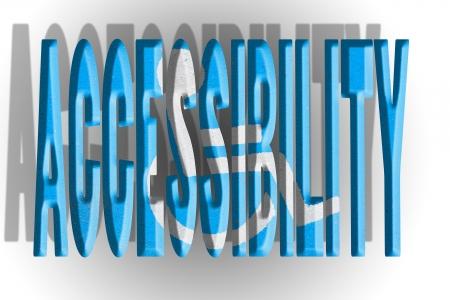 accessibilit�: Parola accessibilit� in asfalto verniciato con apposito cartello