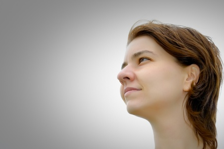 Portrait of a young woman looking at copyspace Stock Photo - 11743417