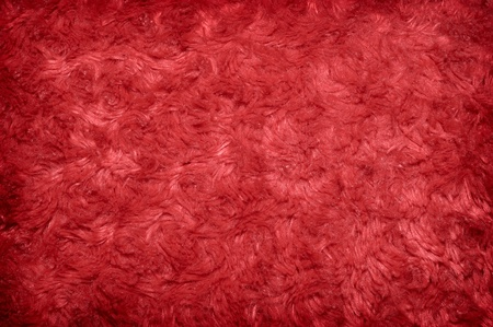 Red hairy polyester texture background photo