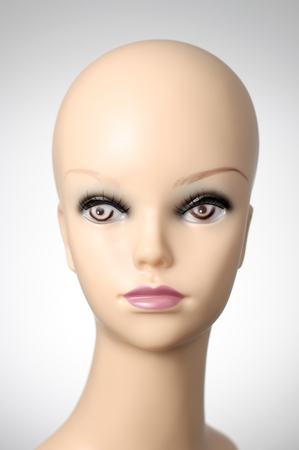 Closeup of a female mannequin head Banco de Imagens