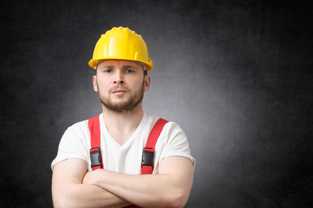 Angry construction worker