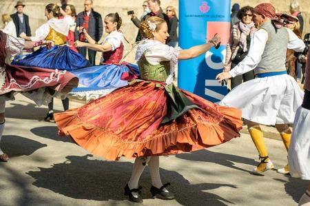 Danseurs traditionnels à Valence, Espagne