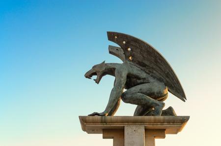 Gargoyle statue, Valencia, Spain Éditoriale