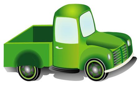camioneta pick up: Camioneta, ejemplo del diseño gráfico de una furgoneta Furgoneta aislada en el fondo blanco