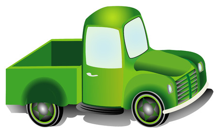 Pickup truck, graphic design illustration of an Pickup truck  van isolated on white background