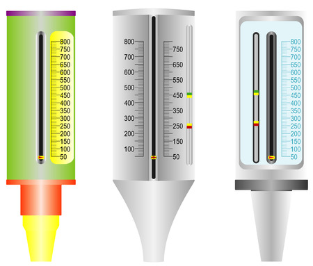 asma: Medidor de flujo máximo Asma Vectores
