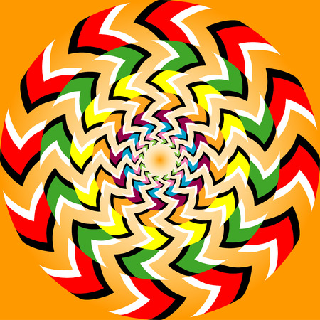 arte optico: Ilusión Rotación Fondo abstracto, sin patrón, con efecto de ilusión óptica