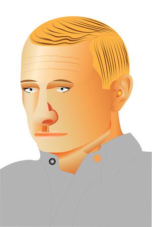 Man profile portrait  Man profile face over white background