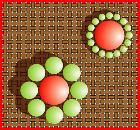 deceptive: Illusion  size perception   Optical illusion of relative size perception  Classic size-contrast illusion  Mistake perception of human eye   The Ebbinghaus illusion