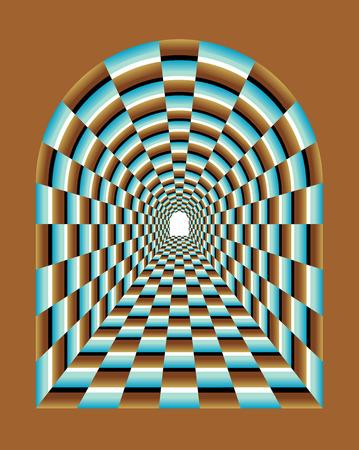 arte optico: Ilusión túnel Abstract Tunnel Vision Optical Illusion Resumen ilusión de efecto túnel abstracto Resumen Antecedentes Túnel