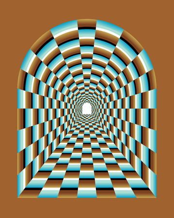 Abstract tunnel Illusion  Tunnel Vision Optical Illusion  Abstract illusion of tunnel effect abstract  Abstract Tunnel Background Illustration