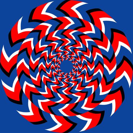 arte optico: Efecto de rotación de fondo abstracto, sin patrón, con efecto de ilusión óptica