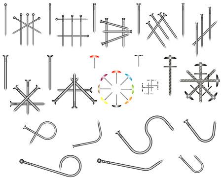 lowbrow: Set di chiodi in acciaio chiodi comuni vengono utilizzati per scopi generali di costruzione