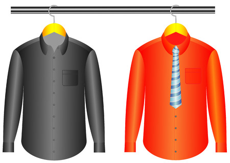 shirt hanger: The color shirts with clothes hanger with tie, Shirt design template